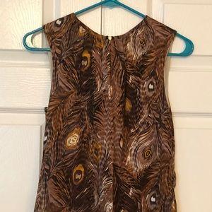 Tory Burch silk feather pattern dress size 2